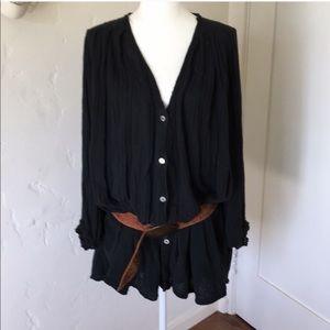 Jen's pirate booty black gauze top tunic dress